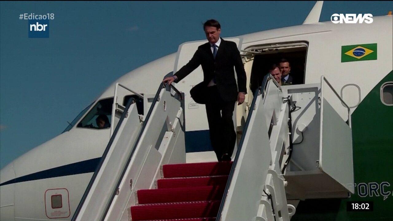 Jair Bolsonaro chega aos EUA para visita oficial