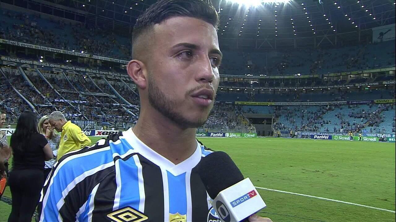 Matheus Henrique fala após vitória do Grêmio por 1 a 0 no Gre-Nal 418 pelo Gauchão