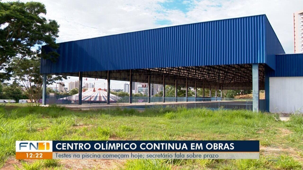 Atraso e novidade nas obras do Centro Olímpico são assuntos do Fronteira Notícias 1ª Edição