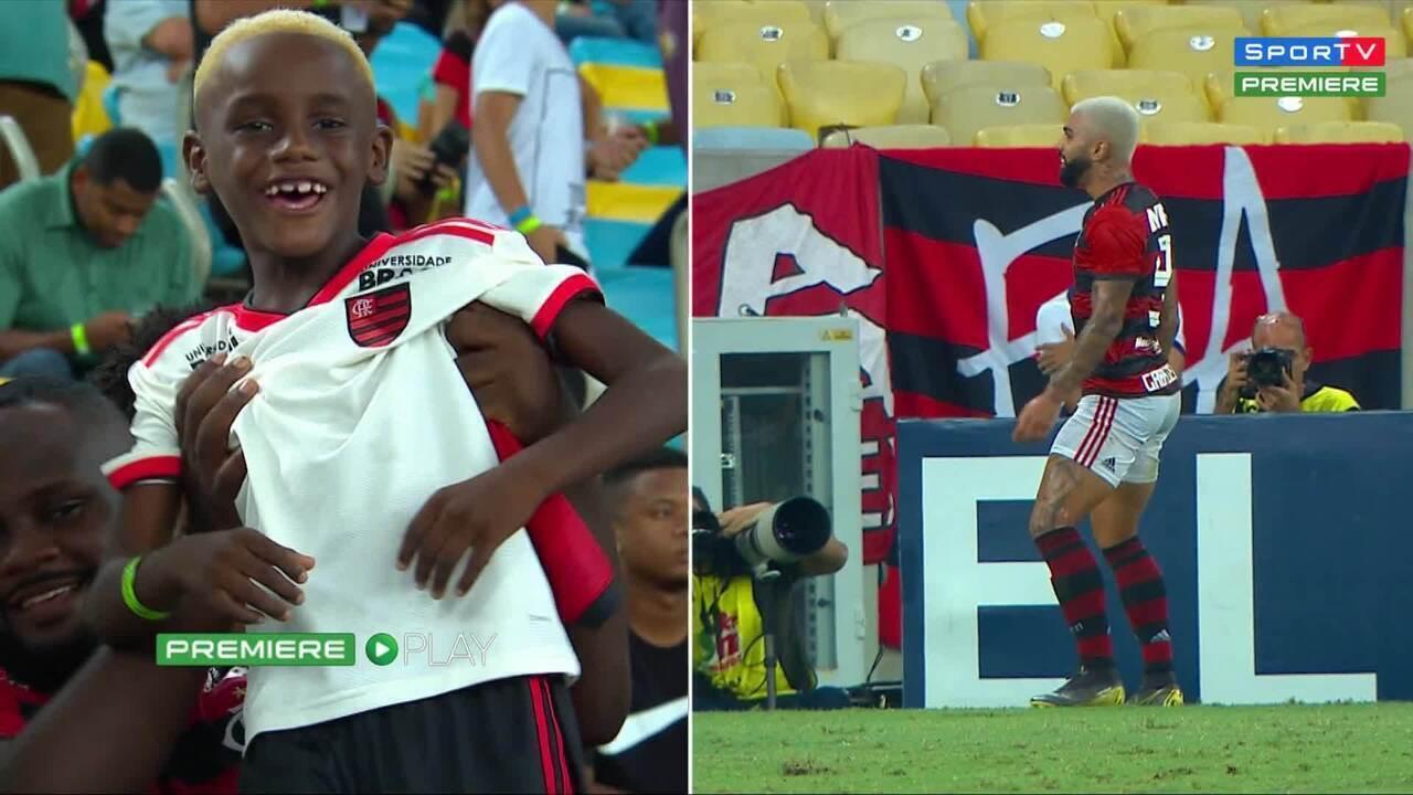 Gabigol conta que inspiração para dancinha foi menino Nego Ney, que estava no Maracanã