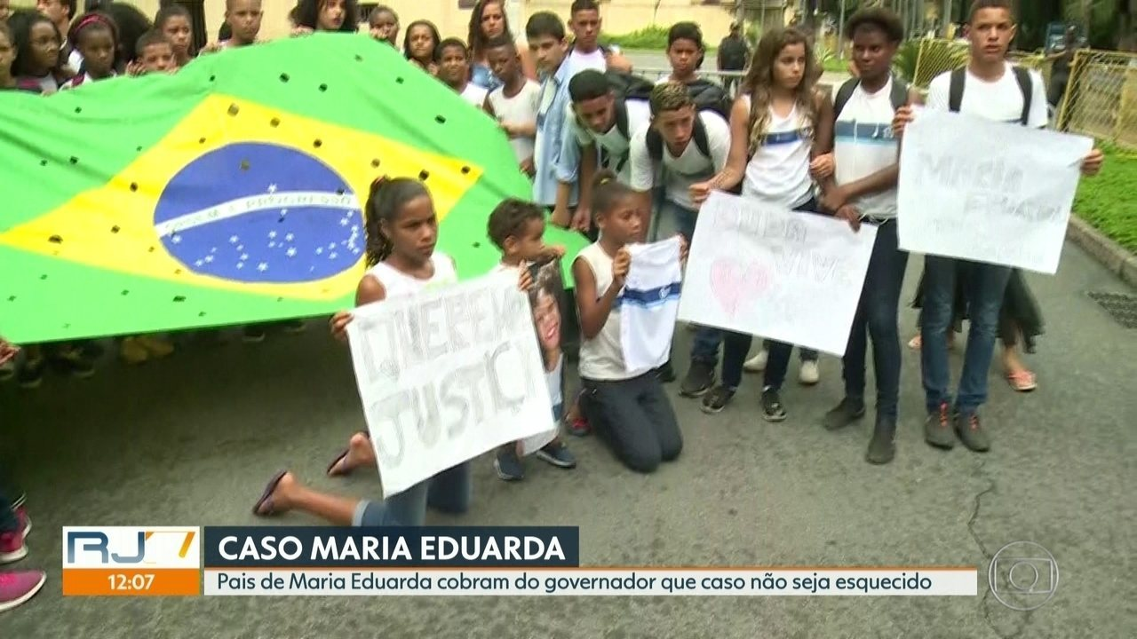 Pais de Maria Eduarda cobram do governador que caso não seja esquecido
