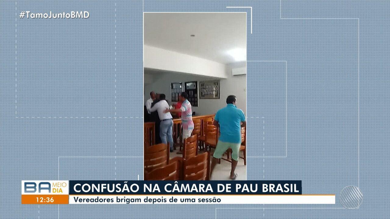 Resultado de imagem para VEREADORES BRIGAM EM PAU BRASIL
