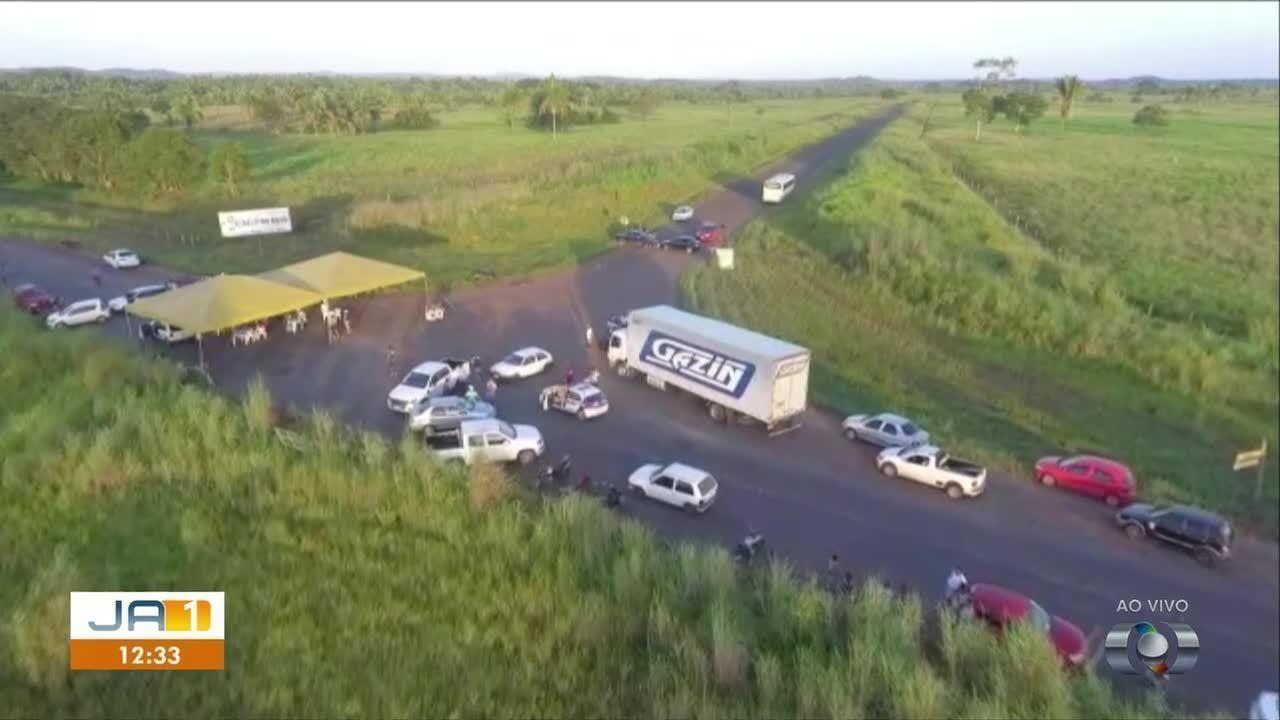 Protesto em rodovias no norte do estado já dura 3 dias e altera a rotina de moradores