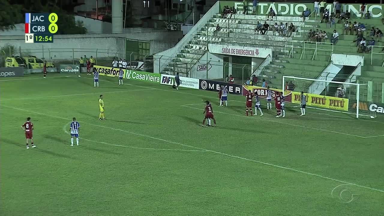 Os gols de Jaciobá 2 x 3 CRB, pela semifinal do Alagoano