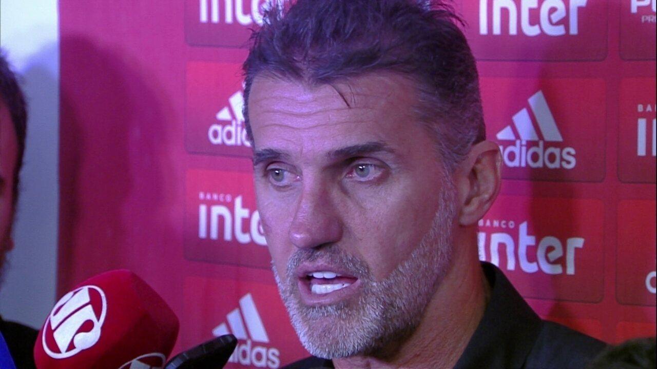 Veja a entrevista de Vagner Mancini após empate do São Paulo com o São Caetano