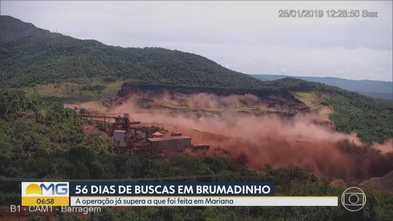 A operação de buscas em Brumadinho já é a mais longa da história de Minas