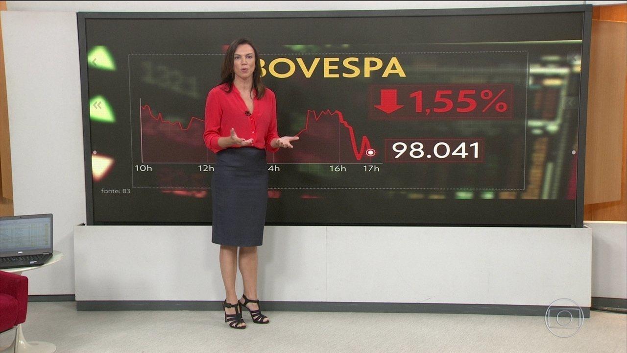 Bovespa fecha em queda após divulgação da proposta de reforma da Previdência dos militares