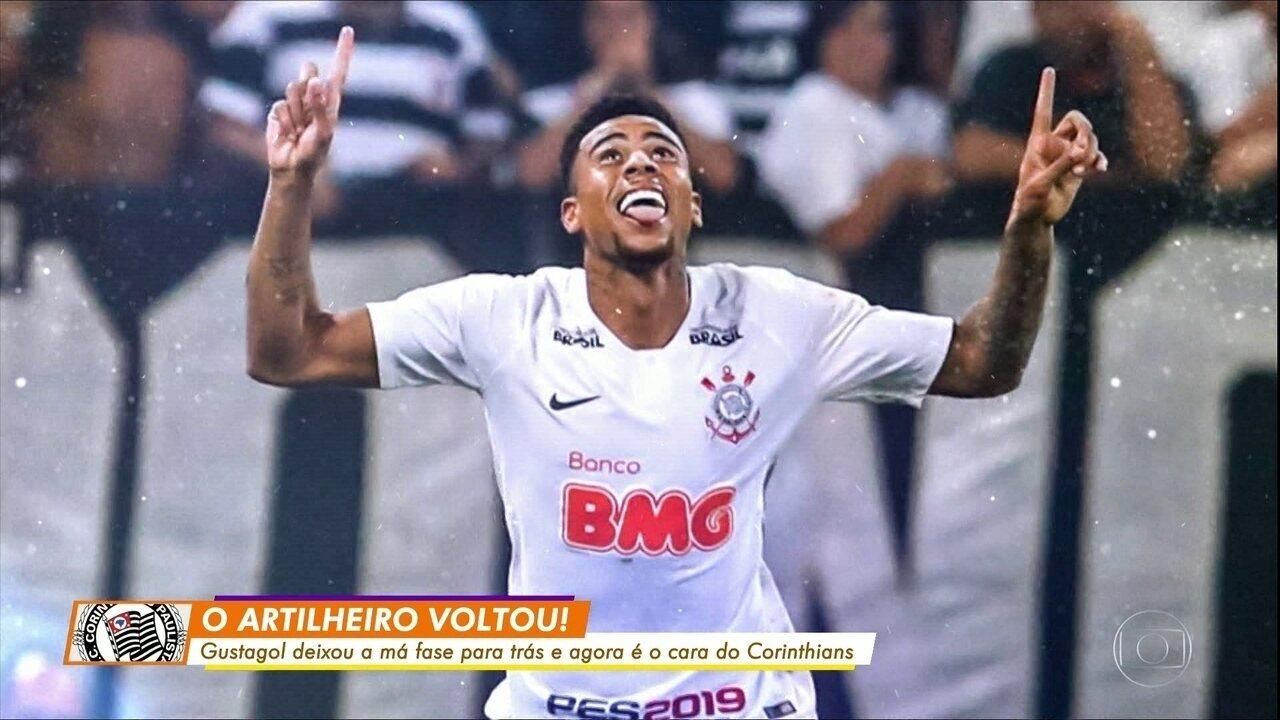 Gustagol curte boa fase em segunda passagem pelo Corinthians