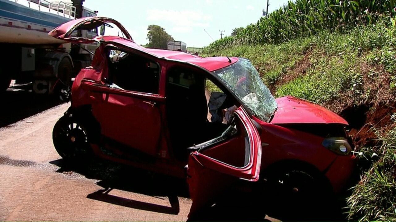 Criança fica gravemente ferida em acidente na saída de Toledo para Assis Chateaubriand