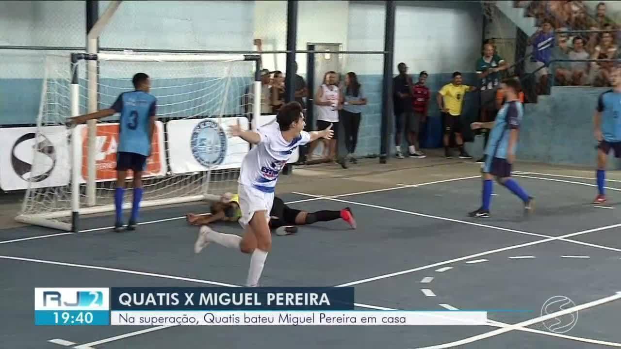Na superação, Quatis bate Miguel Pereira em casa por 4 a 2 e chega à primeira vitória