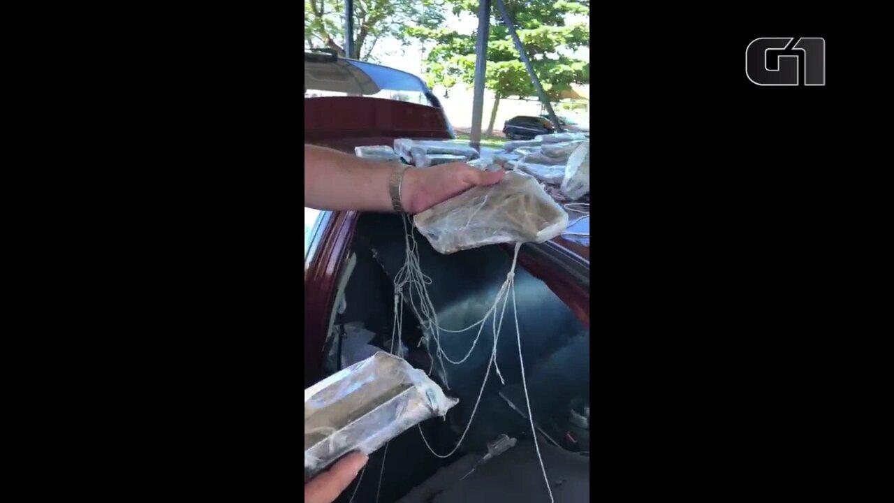 PRE encontra pistolas e munição escondidas em teto de carro