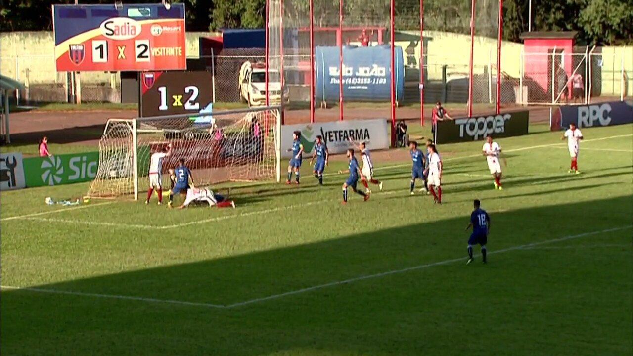 Os gols de Toledo 2x2 Londrina, pela quarta rodada da Taça Dirceu Krüger, do Paranaense
