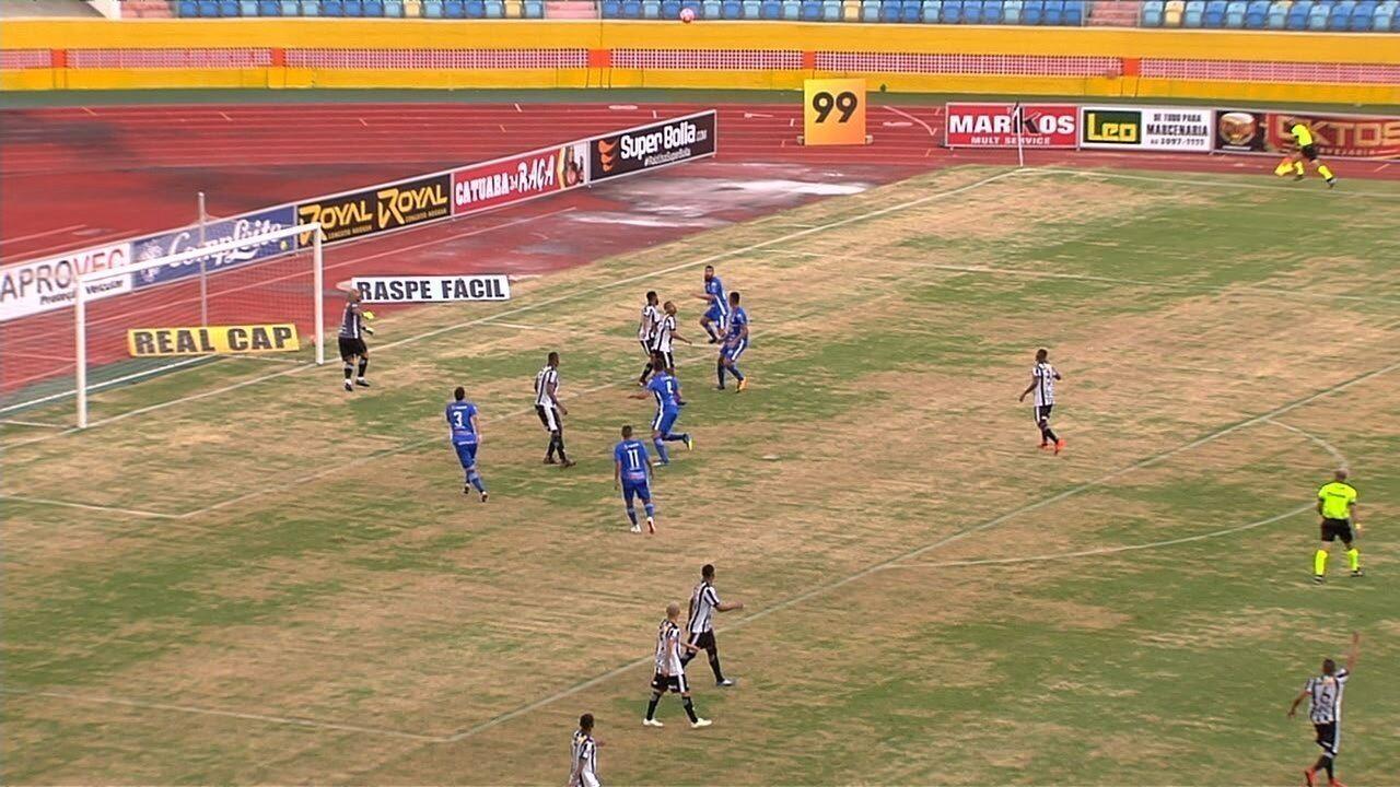 Os gols do empate entre Goiânia e Goianésia no Olímpico