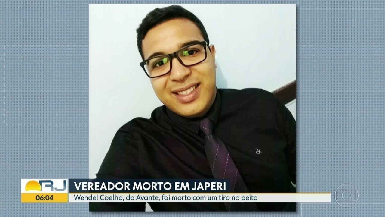 Vereador é assassinado com tiro no peito em Japeri