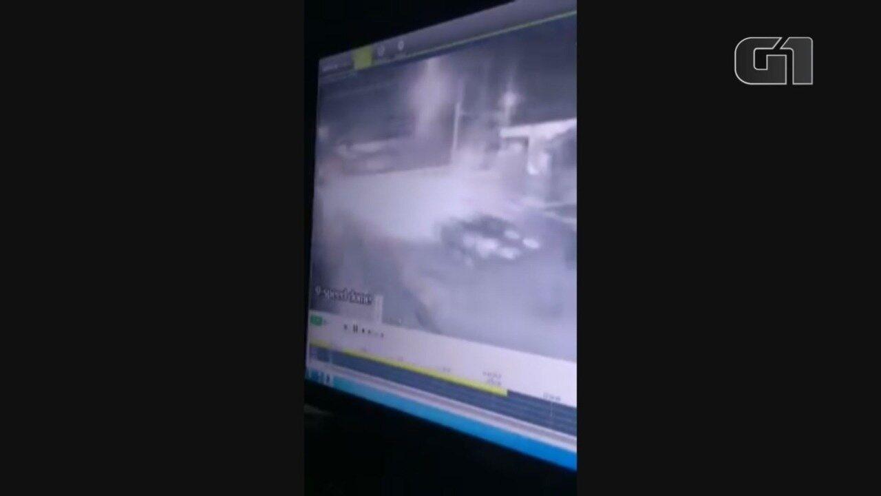 Câmera flagrou o acidente em Peruíbe, SP