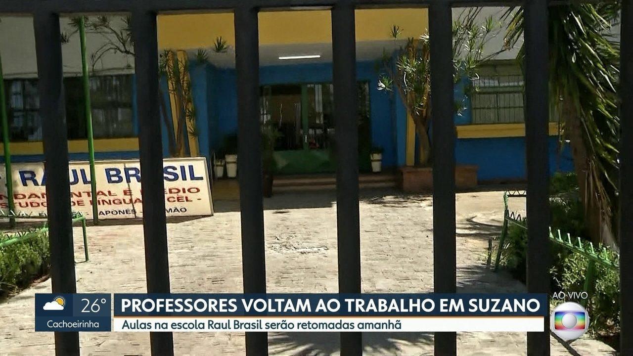 Professores voltam ao trabalho na escola Raul Brasil, em Suzano
