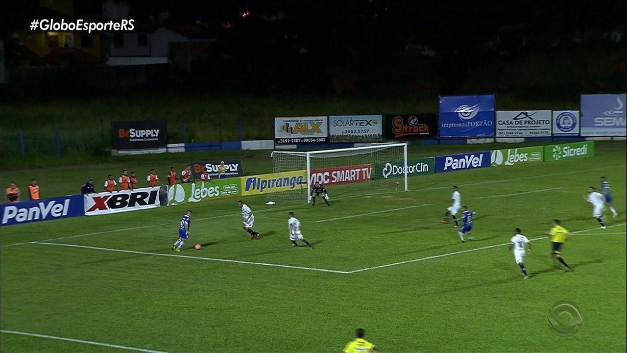 Aimoré e Caxias empatam em 1 a 1 em partida movimentada do Campeonato Gaúcho