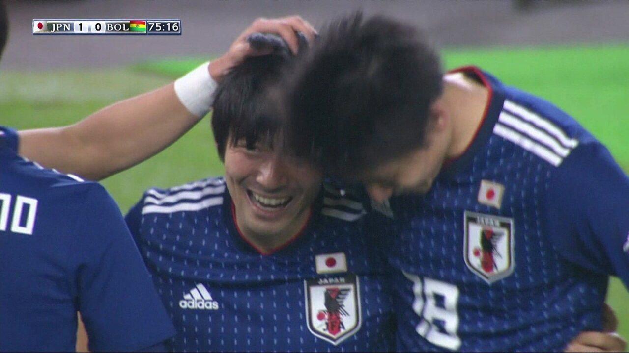 Melhores momentos de Japão 1 x 0 Bolívia no amistoso internacional