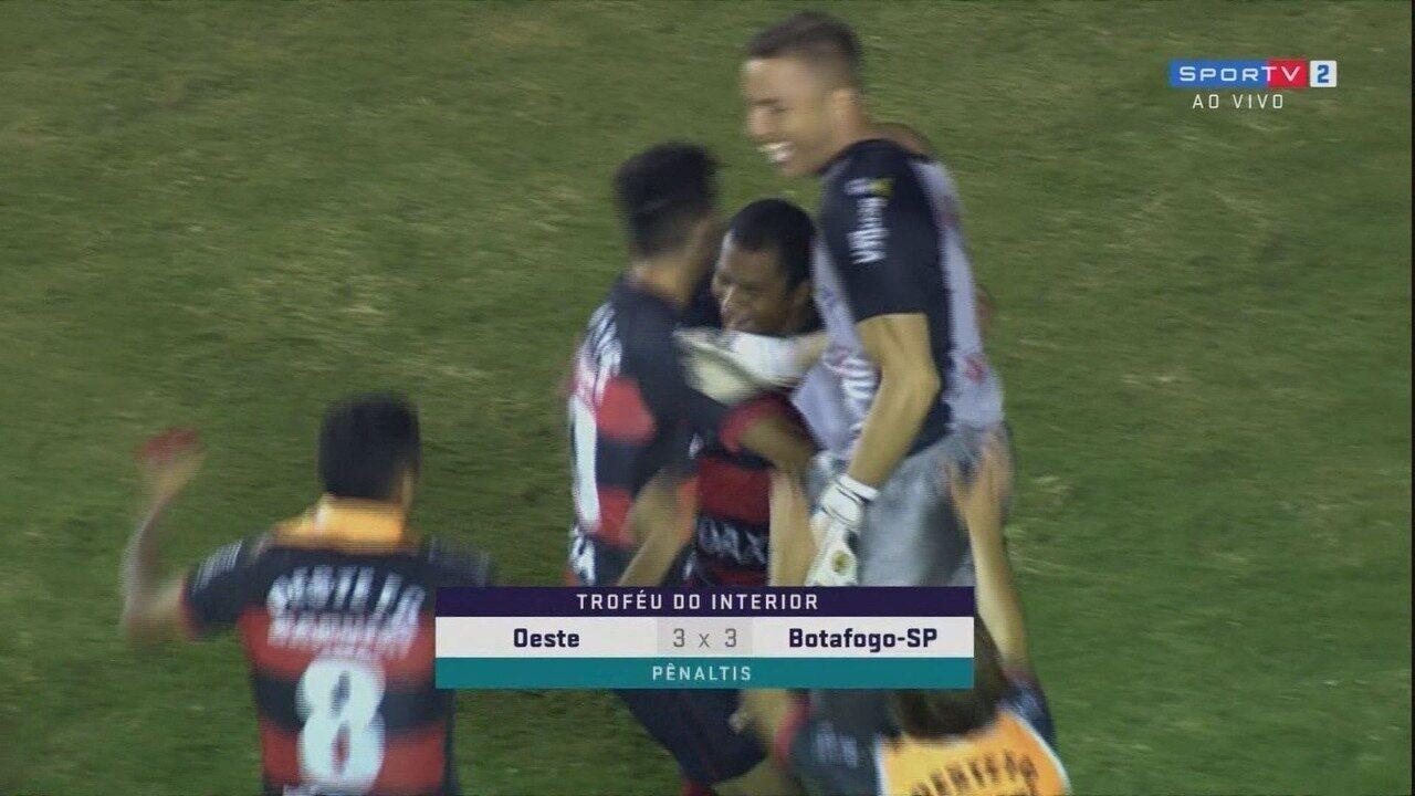 Melhores momentos de Oeste 3 x 3 Botafogo-SP, pelo Troféu do Interior