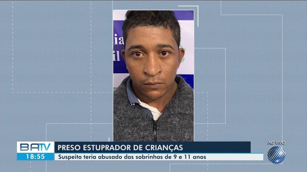 Suspeito de abusar criança de 9 e 11 anos é preso em Remanso.
