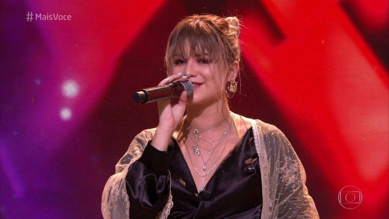 Sofía Reyes canta '1, 2, 3' no Mais Você