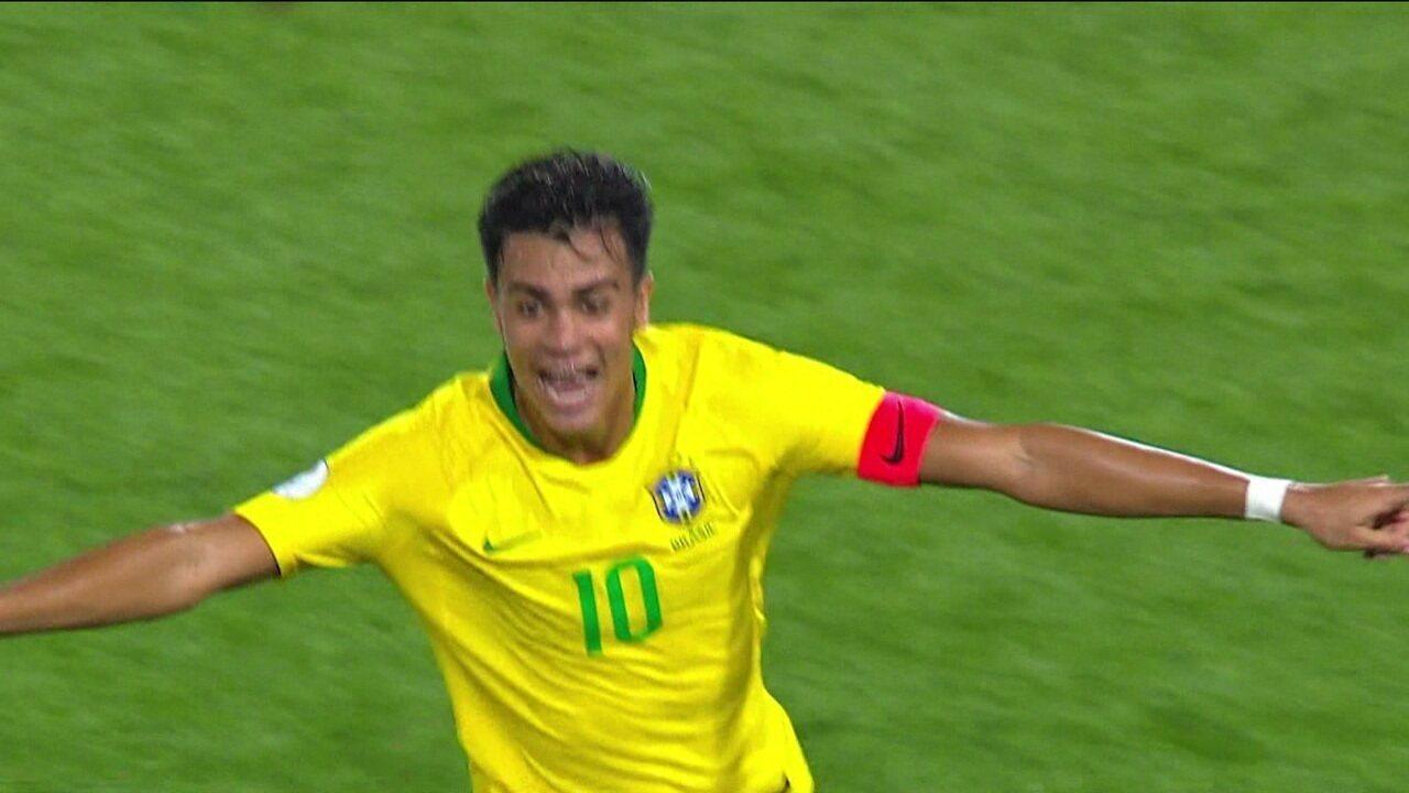 Com golaço de Reinier, do Flamengo, Brasil derrota Colômbia e garante vaga no hexagonal final do Sul-Americano sub-17
