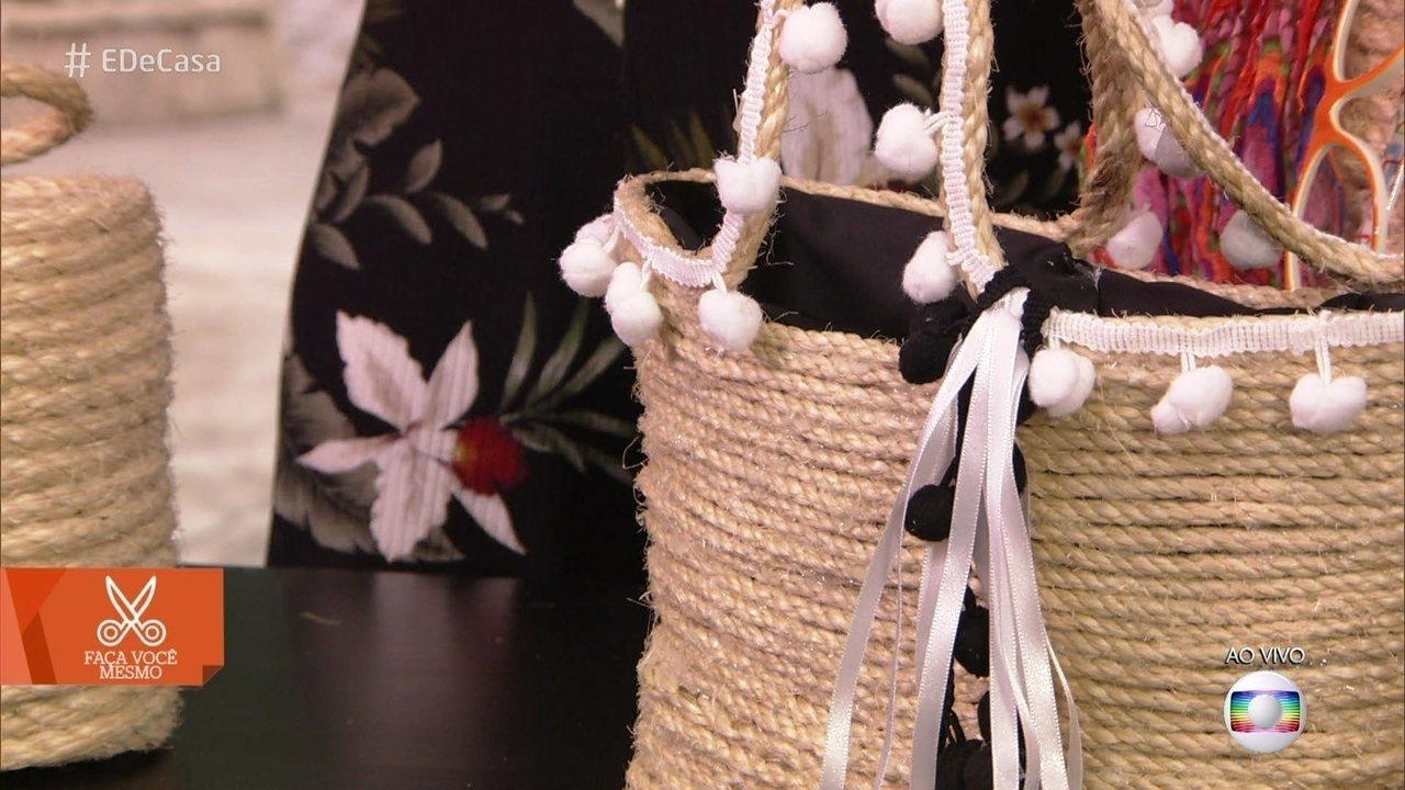 Aprenda a fazer uma bolsa de corda gastando apenas 20 reais