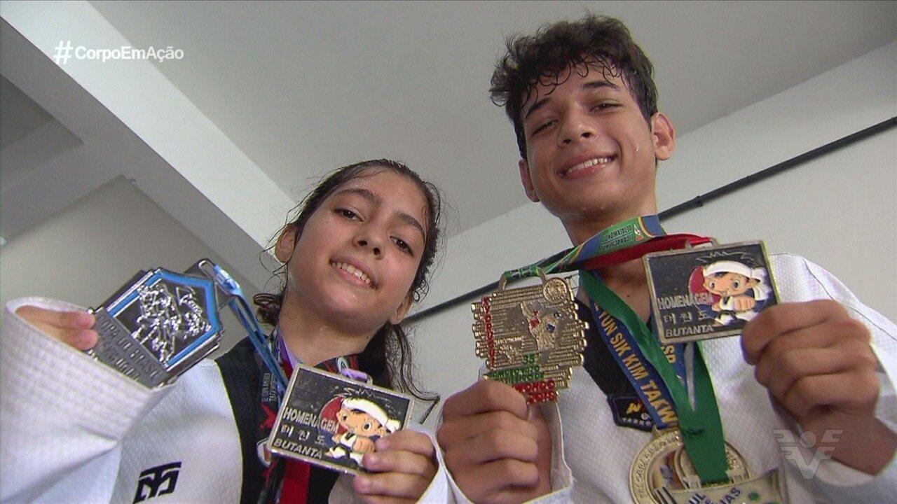 Irmãos de Itanhaém se destacam no taekwondo