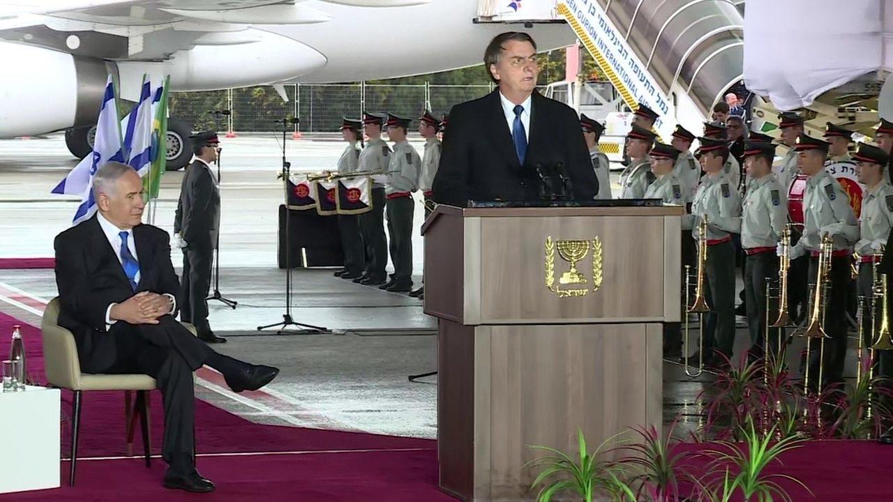 Íntegra: Bolsonaro faz discurso após desembarcar em Israel