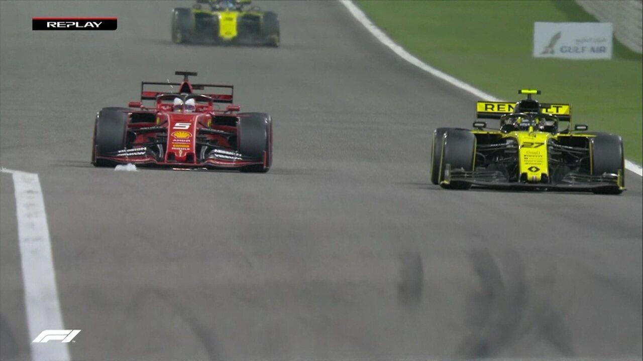 Vettel ultrapassa Hulkenberg no GP do Barein