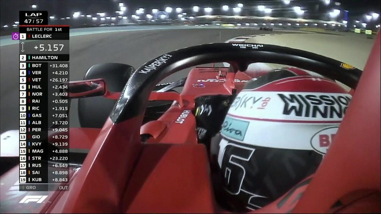 Leclerc tem problemas no carro e perde potência no GP do Barein