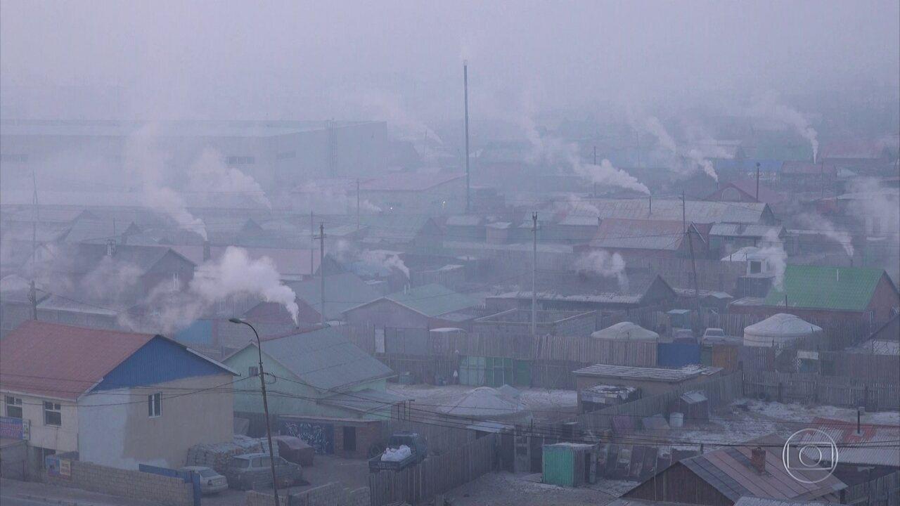 Ulã Bator, na Mongólia, é a capital mais fria e mais poluída do planeta