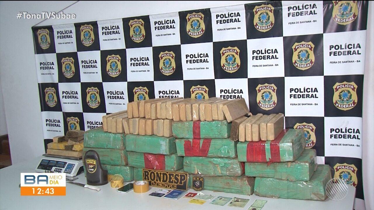 PRF faz operação apreende 150kg de maconha e munição em Santo Estevão