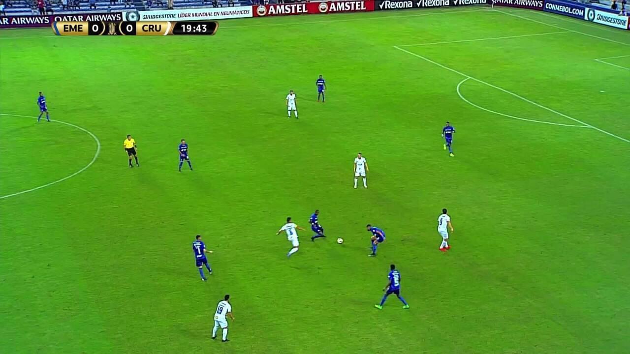 Melhores momentos de Emelec 0 x 1 Cruzeiro, pela Copa Libertadores