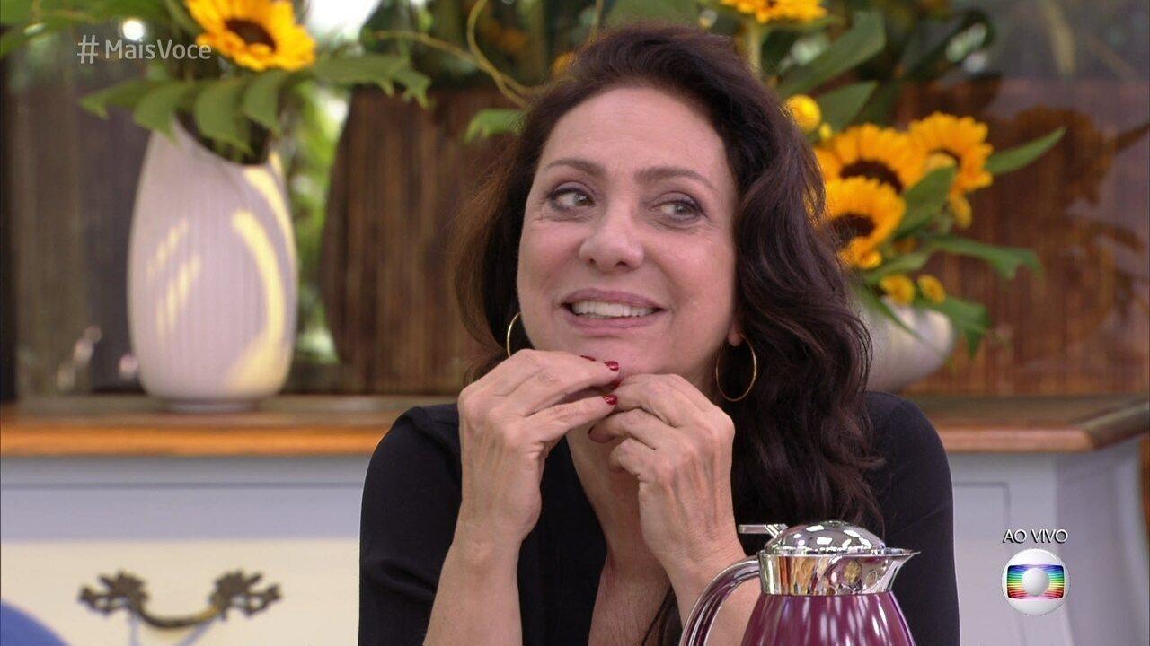 Eliane Giardini garantiu que se dá bem com as namoradas de Paulo Betti