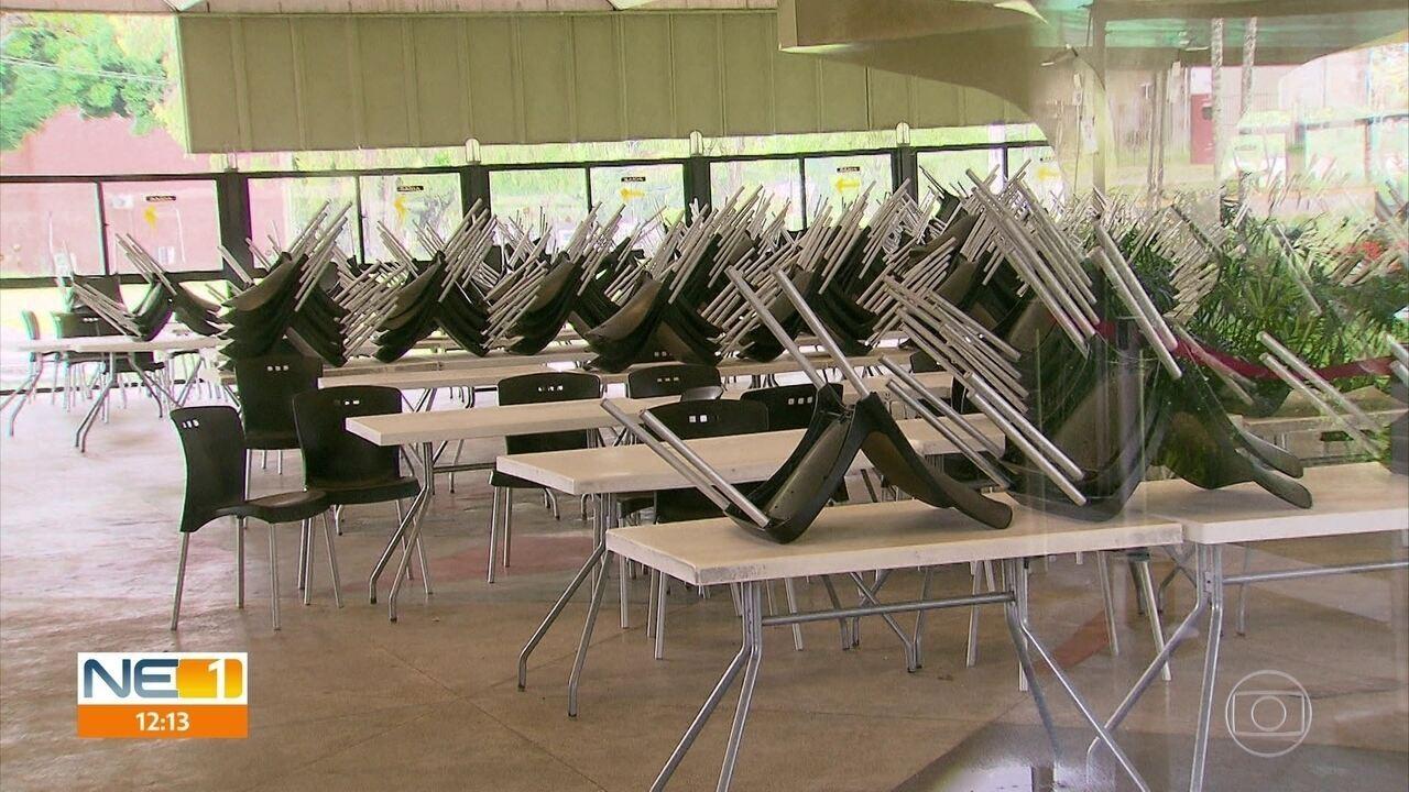 Com restaurante universitário fechado, alunos da UFPE têm dificuldade para fazer refeições