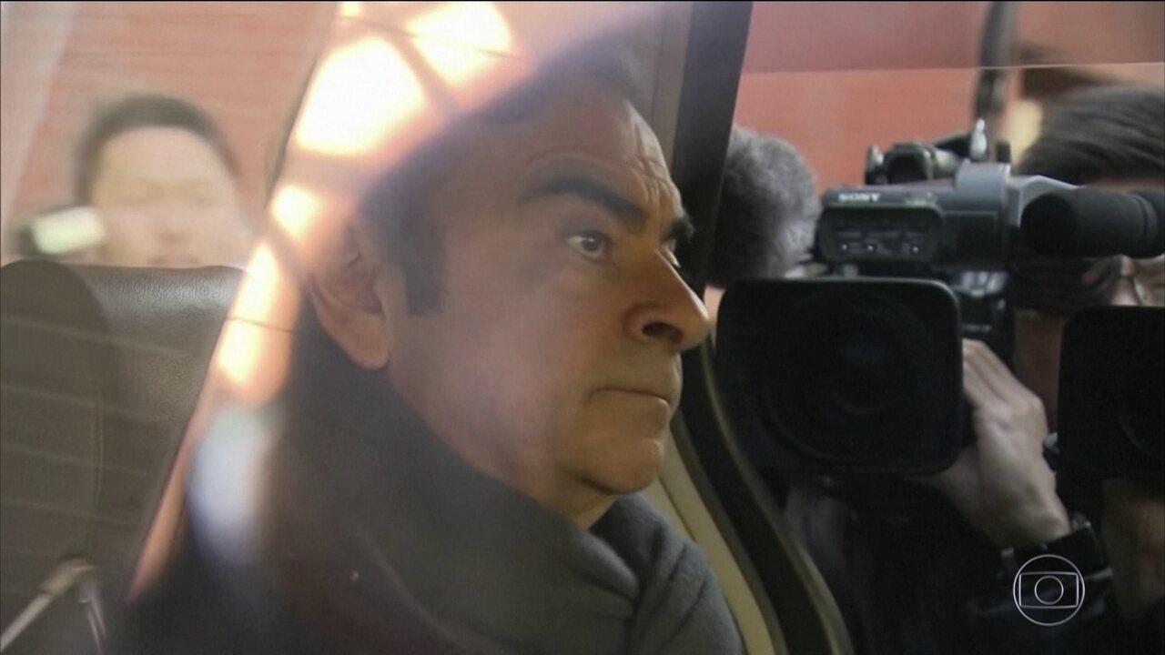 Ex-presidente da Nissan é preso de novo em Tóquio