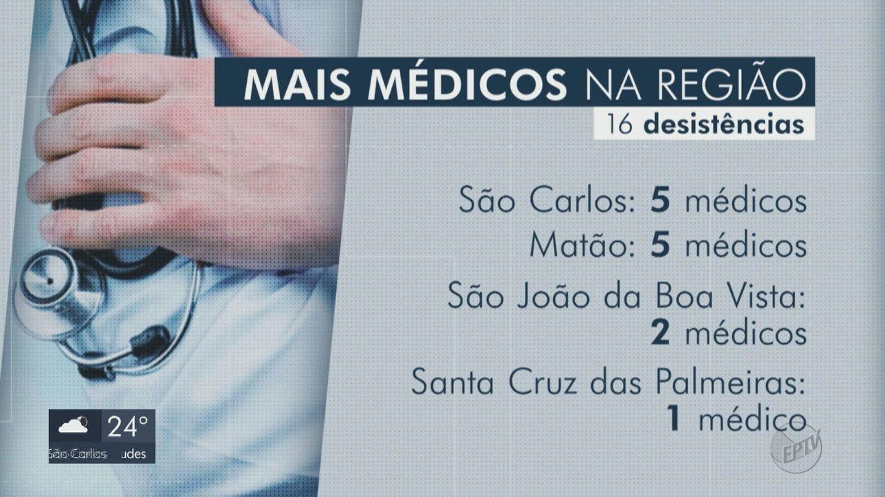 Pelo menos 16 profissionais desistem do Mais Médicos na região