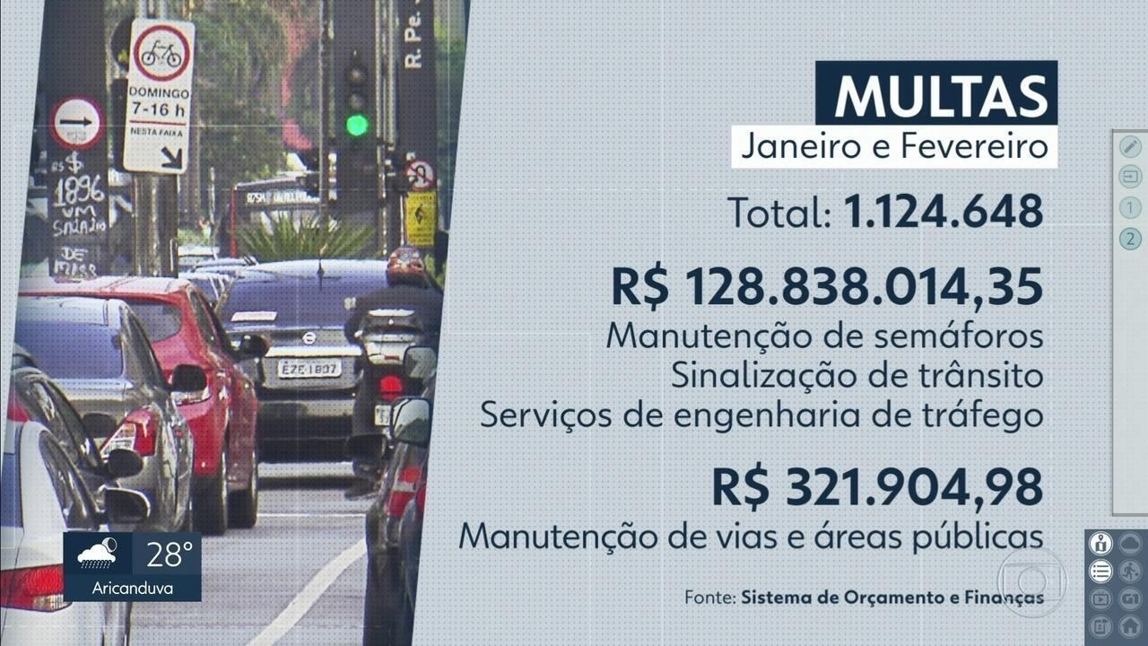 Prefeitura da capital usou dinheiro de multas de trânsito para outras finalidades