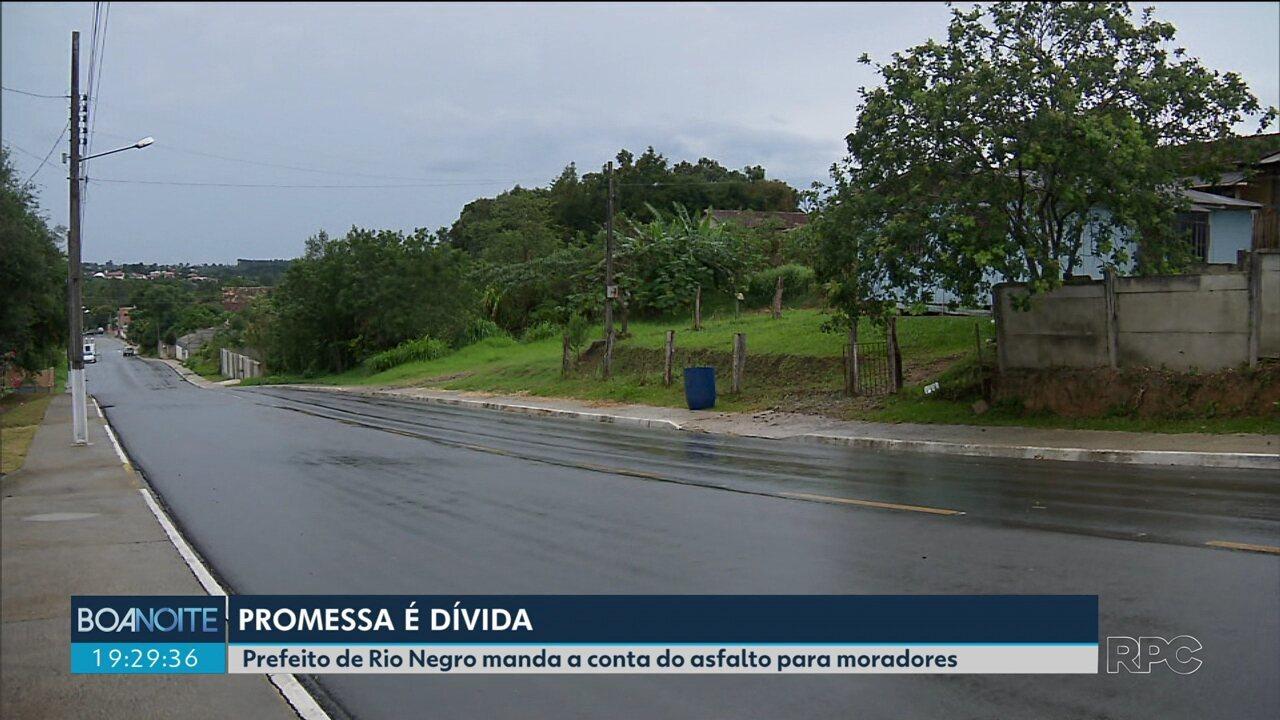 Moradores reclamam de cobrança de mais de R$ 20 mil por obras de asfalto