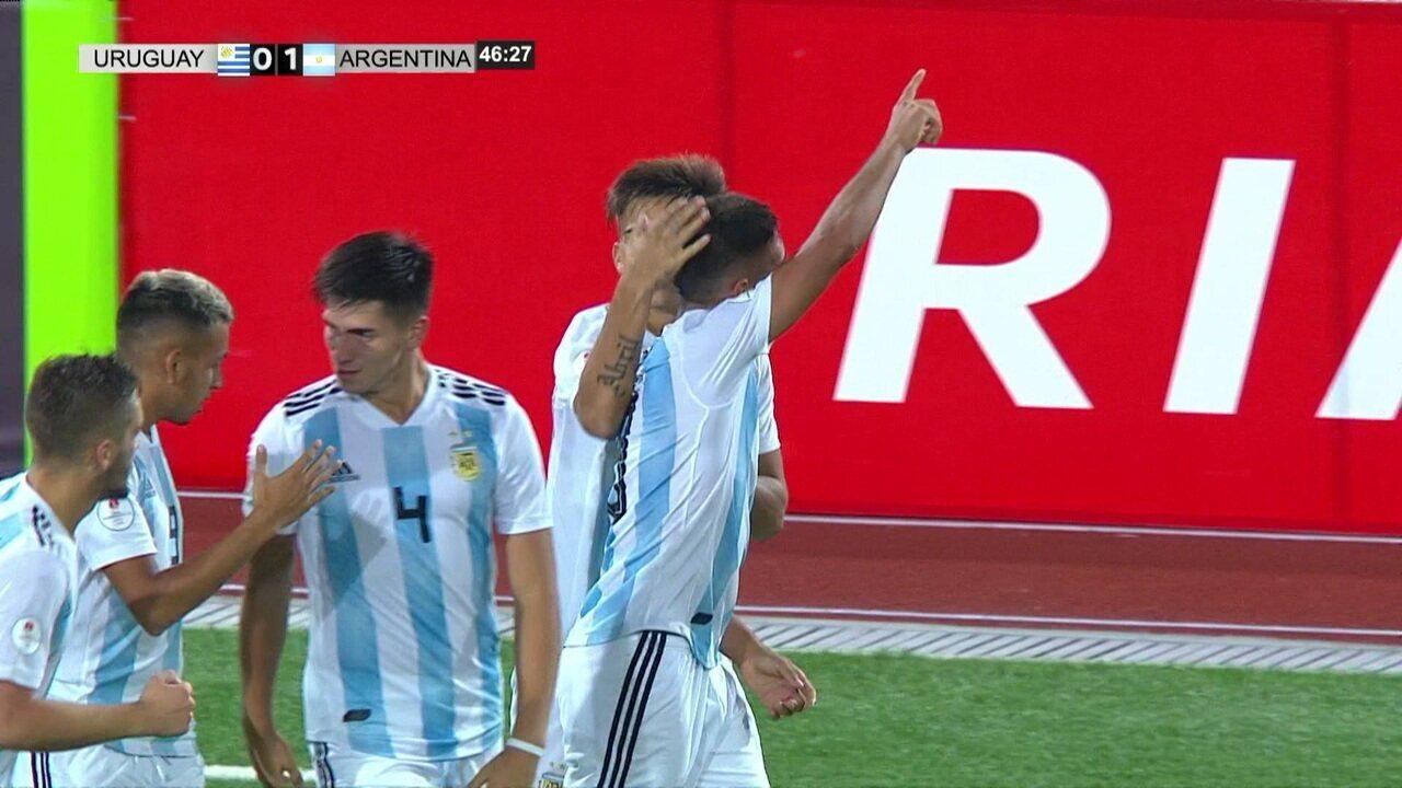O gol de Uruguai 0 x 1 Argentina pelo Sul-Americano sub-17