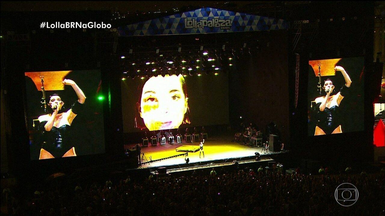 St. Vincent se apresenta no Lollapalooza