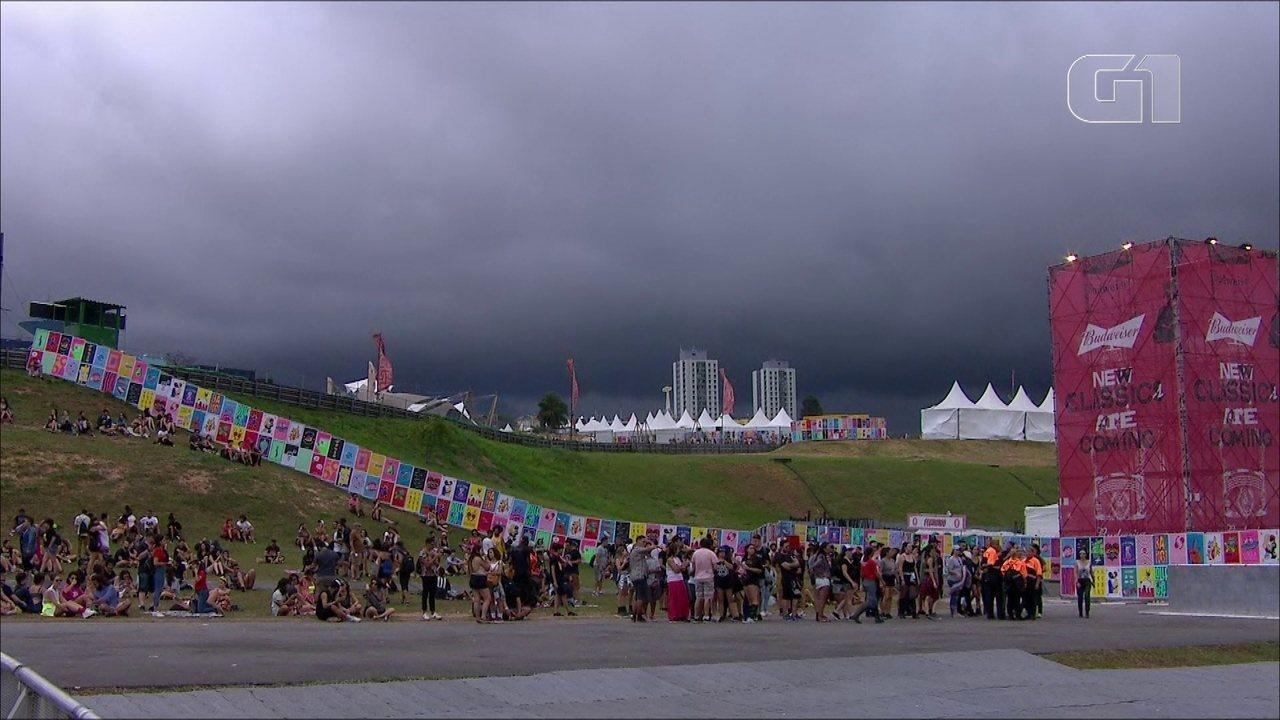 Lolla: vídeo acelerado mostra aproximação de nuvens escuras no Autódromo de Interlagos