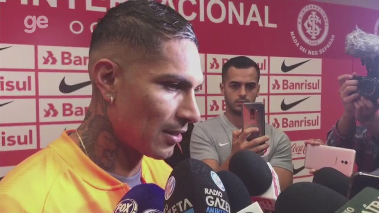 Guerrero fala da estreia pelo Inter e projeta Libertadores