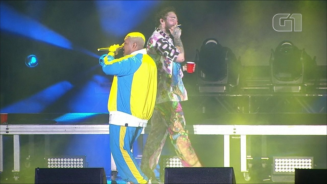 "Kevin o Chris canta ""Ela é do Tipo"" em show de Post Malone no Lollapalooza 2019"