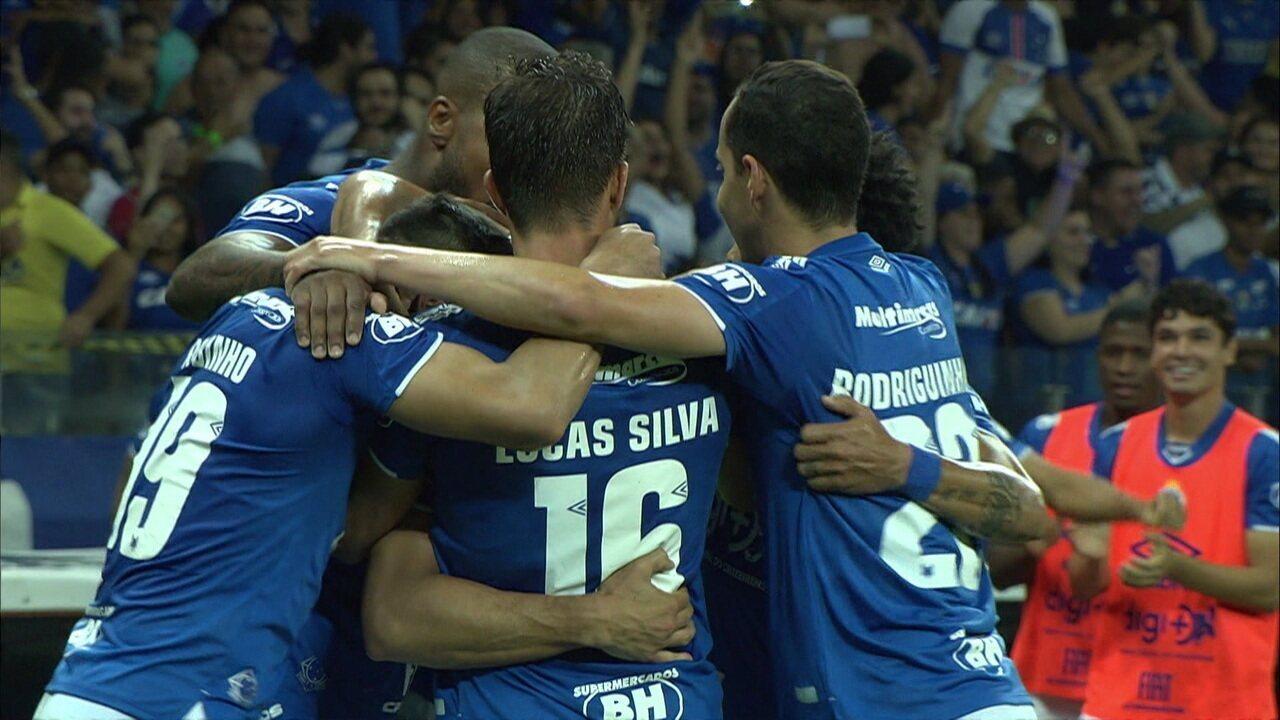 Os gols de Cruzeiro 3 x 0 América-MG pela semifinal do Campeonato Mineiro
