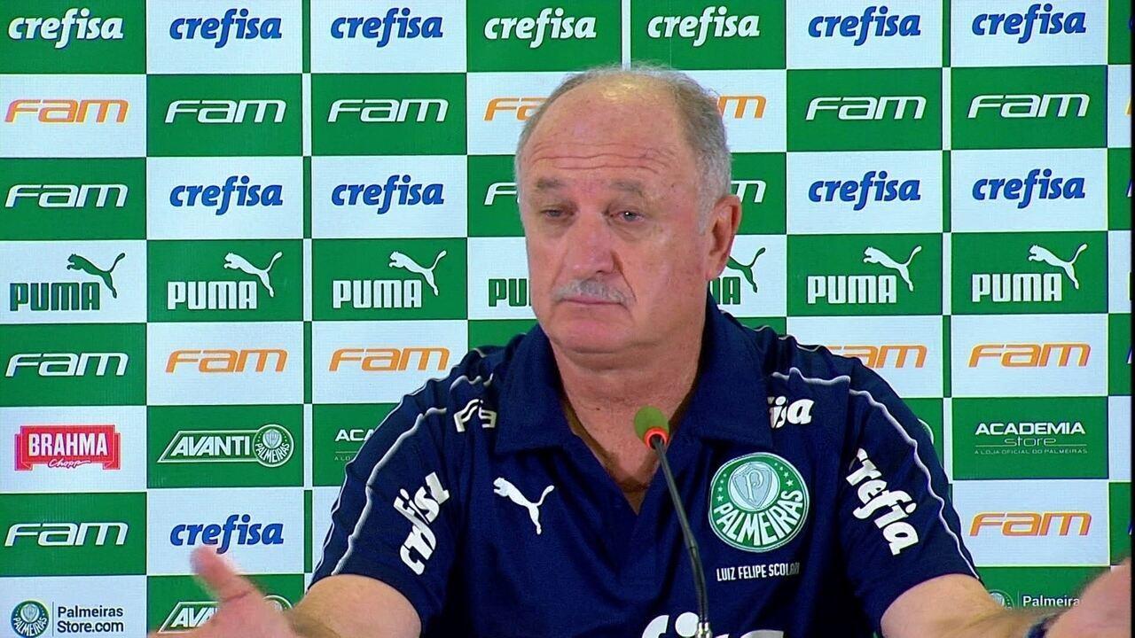 Veja a coletiva do técnico Felipão após a eliminação do Palmeiras no Campeonato Paulista
