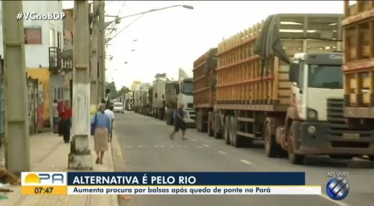 Aumenta procura por balsa após quedade ponte no Pará