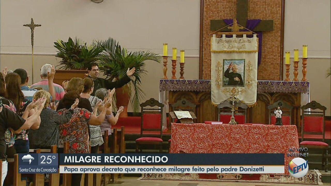 Papa aprova decreto que reconhece milagre feito pelo padre Donizetti