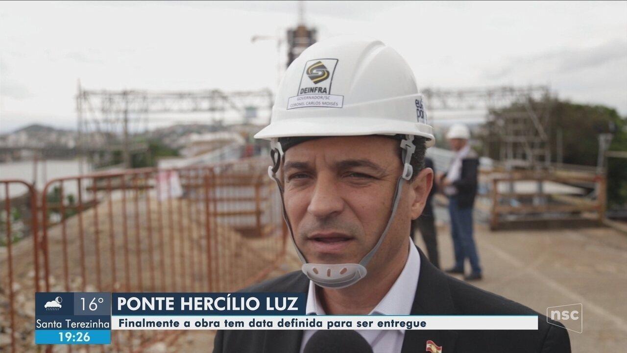 Tráfego da Ponte Hercílio Luz deve ser liberado em 30 de dezembro, diz governo